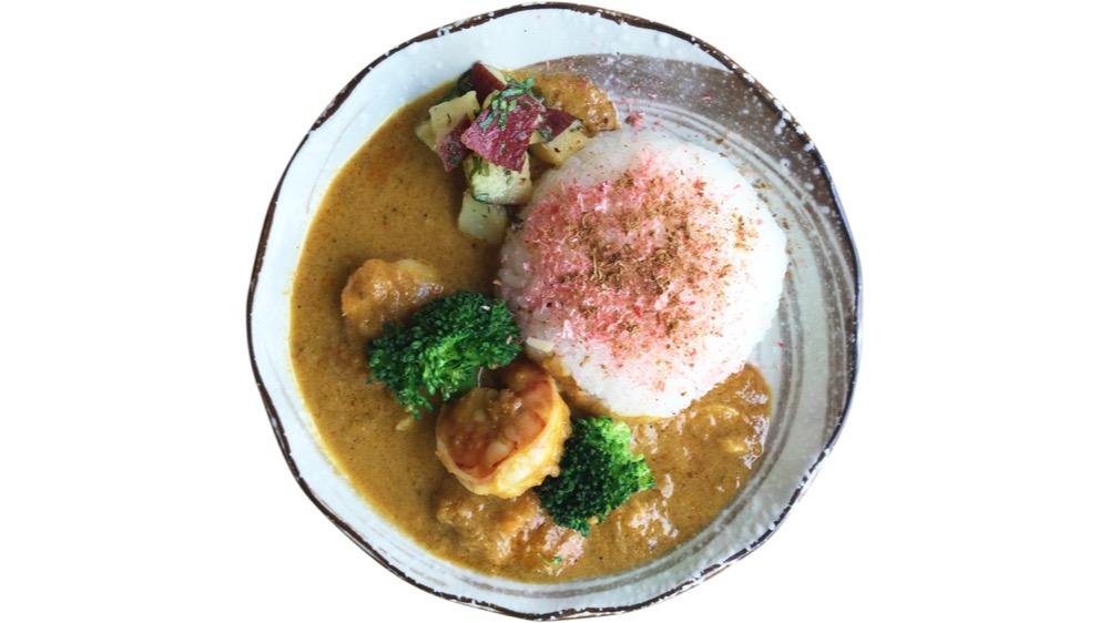 30. yuzuki<br>海老のココナッツカレーさつま芋のアチャール
