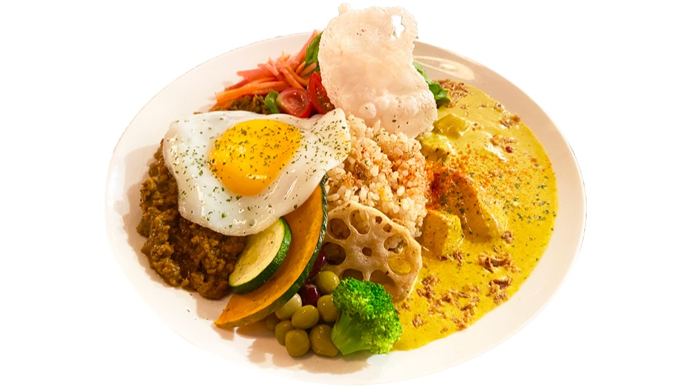 48. cafe garage Dogberry<br>2種あいがけカレー