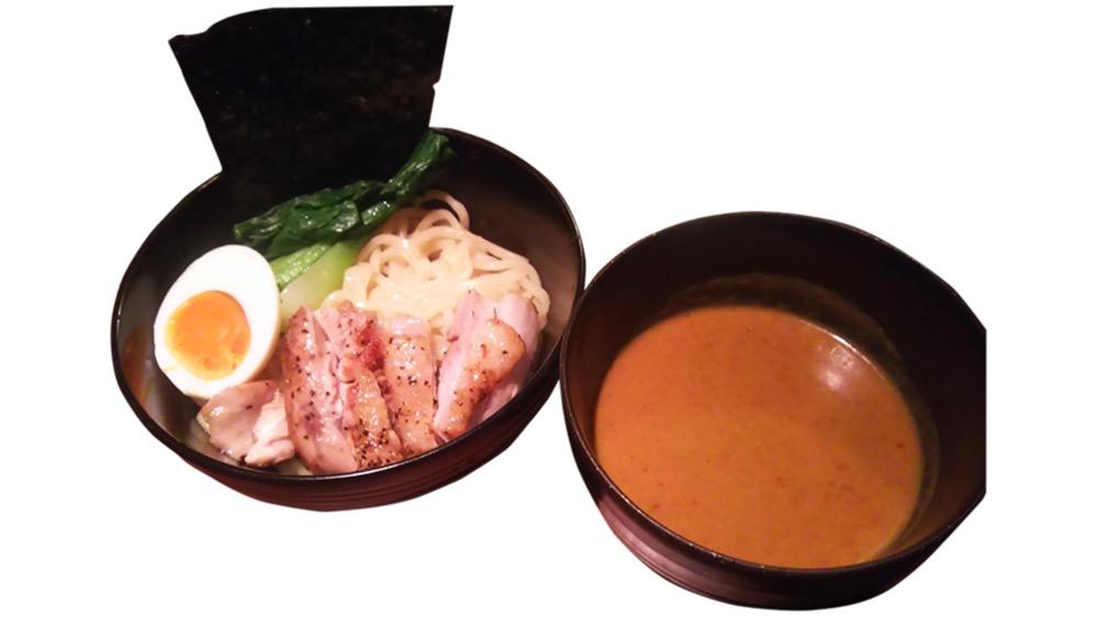 74. 焼き鳥barあみあみ<br>カレーつけ麺